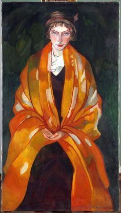 """""""Portrait of Eugenia Dunin-Borkowska"""" by Stanisław Ignacy Witkiewicz """"Witkacy"""""""