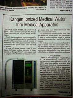 Kangen Water in the newspaper!    Kangen Beauty Water - www.healthybydannorris.com, www.kangendemo.com, 407-749-9395, dannorris42@gmail.com