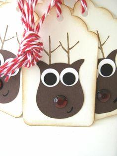 Rudolph Reindeer Christmas gift tags