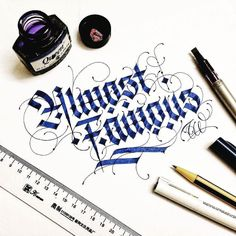 Super clean lines in this calligraphy by @typewa | #typegang if you would like to be featured | typegang.com | typegang.com #typegang #typography