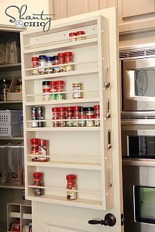 I would probably put this on the inside of a pantry wall instead. This would be a great thing to have in a tiny kitchen or even a small pantry because it isn't too big and it wouldn't take up too much room.