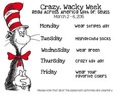 Peek at my Week: Dr. Seuss\' Week!
