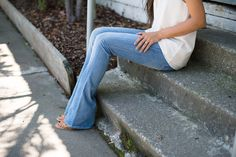 light-washed flared jeans are my summer must have, especially this #fabfound pair