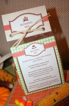 Thanksgiving Blessing Mix Favors & FREE Printables