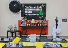 This Science Birthday Party is on fire!! See more party ideas and share yours at CatchMyParty.com