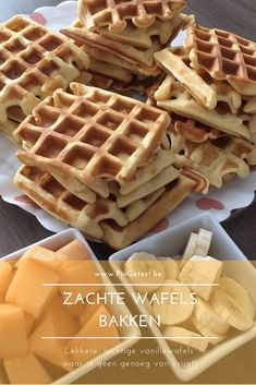 Zachte wafels bakken Cookie Desserts, Cookie Recipes, Dessert Recipes, Crepes, Tapas, My Favorite Food, Favorite Recipes, Sandwich Toaster, Delicious Desserts