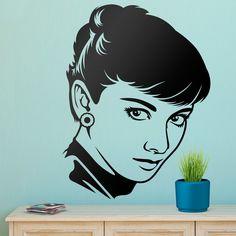 Adesivi Murali: Lo sguardo di Audrey Hepburn #cinema #decorazione #deco #StickersMurali