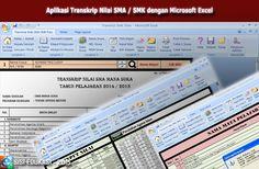[File Pendidikan] Aplikasi untuk membuat Transkrip Nilai Siswa SMA / SMK menggunakan Microsoft Excel