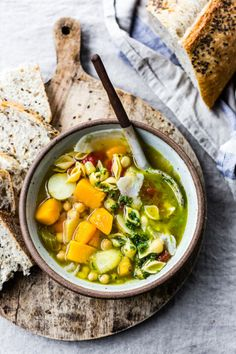 guardians-of-the-food:  Golden Vegetable Chickpea Minestrone...