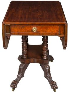 Classical Mahogany Pembroke Table, New York, Circa 1830