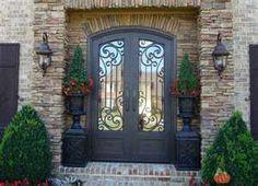 Wrought iron front door - this door is awesome !!!!!!