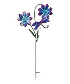 Another great find on #zulily! Purple Double Flower Solar Garden Stake #zulilyfinds