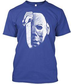 Perfect Halloween Shirt, Horror Costume Deep Royal T-Shirt Front Michaels Halloween, Halloween 2, Halloween Horror, Michael Myers, Horror Shirts, Horror Masks, Halloween Sweatshirt, Purple T Shirts, T Shirt Costumes
