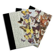 Vintage Butterfly Handmade Notebooks