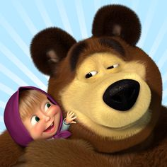 Masha and the Bear! Cute! :)