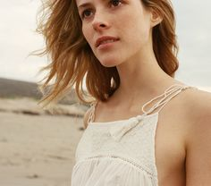 YUCCA EMBROIDERED GAUZE TIE TOP -- White