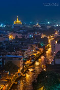 Fotografia Golden Mountain Temple, Rayong, THailand,,de Thanapol Marattana na 500px