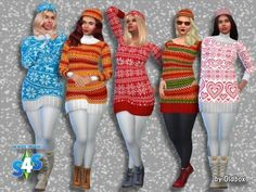 All4Sims: Winter sweaters and hats • Sims 4 Downloads