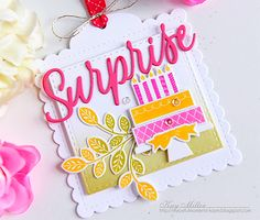 Surprise Tag by Kay Miller for Papertrey Ink (November 2016)