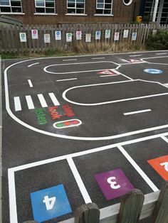 Get ideas and view our gallery images of recent installations of roadway shape playground markings at schools and nursery's across the UK. Outside Playground, Preschool Playground, Preschool Garden, Playground Design, Backyard Playground, Backyard Kids, Playground Ideas, Outdoor Learning, Outdoor Activities