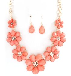 Flora Necklace in Blush on Emma Stine Limited