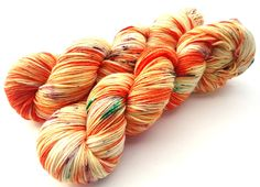 Hand painted Premium high twist sock yarn hand dyed speckled: