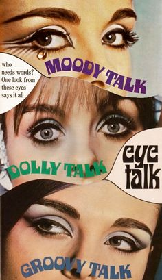 Max Factor Eye Talk adverts 1960's Makeup