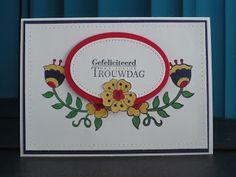 Voor dit kaartje gebruikte ik de set Feathery Friends. Deze afdrukjes kleurde ik in met de markers in lekker felle kleurtjes. De tekst is o...