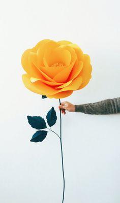 Happy Yellow // Paper Flower