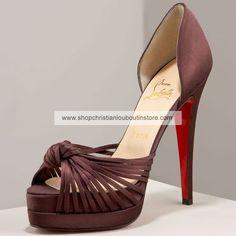 Christian Louboutin Crepe Satin Sandals