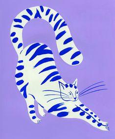 Murs Pastel, Arte Latina, Plakat Design, Poster Prints, Art Prints, Posters, Arte Pop, Art Graphique, Cat Art