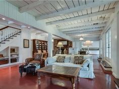 View 21 photos of this 3 bed, bath, 4157 sqft single family home located at 4001 Estes Rd, Nashville, TN 37215 Painted Concrete Floors, Painting Concrete, Painted Walls, Contemporary Barn, Red Floor, Barn Renovation, My Dream Home, Modern Farmhouse, Home And Family