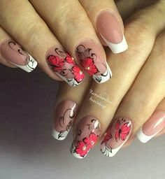 We all want beautiful but trendy nails, right? Here's a look at some beautiful nude nail art. Cute Nail Art, Gel Nail Art, Acrylic Nails, Gradient Nails, Fabulous Nails, Perfect Nails, Hot Nails, Hair And Nails, Nail Art Designs