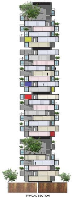 Galeria - GA propõe arranha-céu de containers para favela em Mumbai - 6