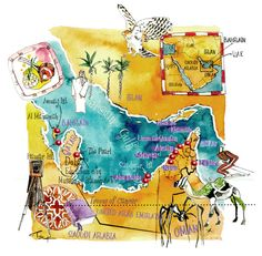 Map of UAE (United Arab Emirates) -  Eleni Tsakmaki