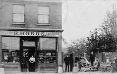 Robert Hobbs dairy and confectioner shop in at No. 3 The Green in Lower Edmonton . __ http://www.1900s.org.uk/edmonton-images/dairy.jpg