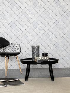 Weiße Tapeten, Tapete Tilted-Weave by FRONT Design Group über TapetenAgentur