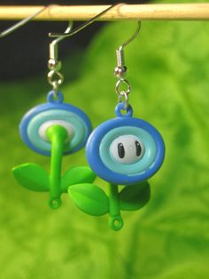Super Mario earrings - ice flower!