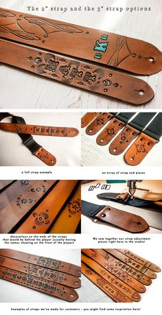 Custom Leather Guitar Strap 2 or 3 wide & by MesaDreams on Etsy