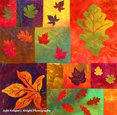 Patsy Thompson - Leaf Cycles II: 40in W x 40in H - Beautiful quilting.