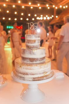 Featured Photographer: A Day of Bliss Photography; beach wedding cake idea