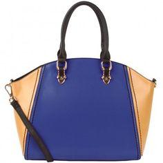 Fall Trend Alert: Colbat Blue!  Colorblock Bowler Satchel