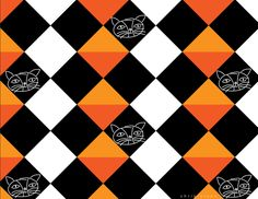 I just hid the Halloween candy from myself. Happy Halloween eve, y'all… New tile pattern featuring a spooky kitty design. Visit my portfolio for more designs. Halloween Eve, Halloween Candy, Happy Halloween, Halloween Patterns, Cat Pattern, Tile Patterns, Repeating Patterns, Map Art, Vector Art