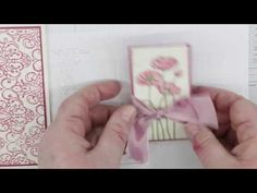 cardmaking video: Letterpress with Stampin' Up! Embossing Folders - YouTube