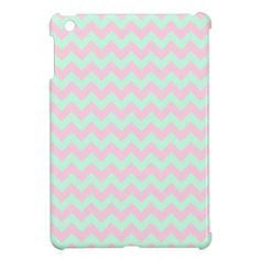 Mint Green and Pink Chevron iPad Mini Case