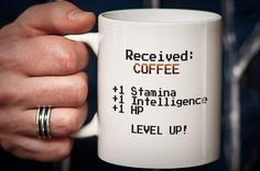8 Bit Mug Nerd Mug Gamer Mug LEVEL UP Great Nerd by PhotoCeramics