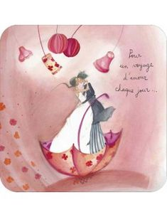 Prime quality card of French manufacture quotVoyage d Amour quot by Anne Sophie RUTSAERT Illustration Artists, Cute Illustration, Anne Sophie, Art Carte, Cute Themes, Husband Birthday, I Love Coffee, Couple Art, Whimsical Art