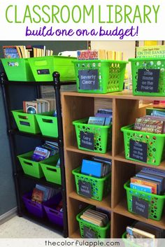 Building and organizing a classroom library can get expensive.  Here are some tips to save you some money!