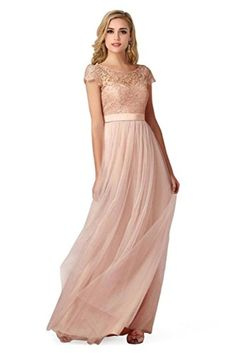 Plus Size Bridesmail Dresses for Women Sexy Dusty Pink Formal Gown,16,Dusty Pink - Brought to you by Avarsha.com