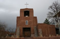 SANTA FE  San Miguel Church - Tlaxcalan Indians of Mexico under direction of Franciscan Padres